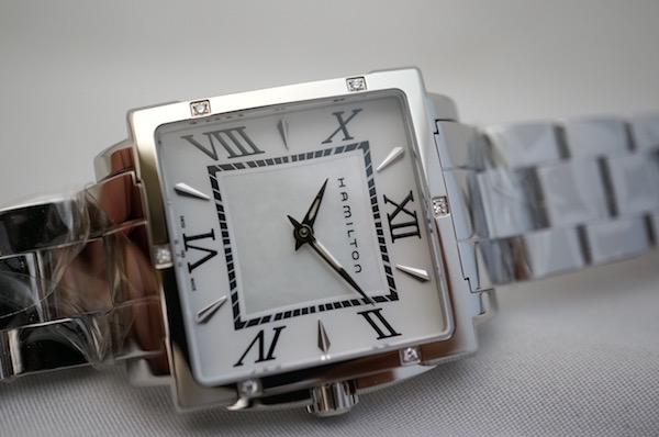 国内正規品ハミルトン社認定商品 ジャズマスタースクエアレディ MOP ダイアモンド H32291114限定販売モデル