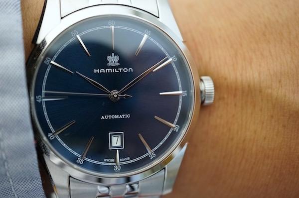 国内正規品ハミルトン スピリットオブリバティ ブルーダイアル ブレス H42415041