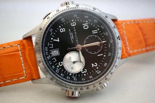 国内正規品ハミルトン認定商品 カーキETOオレンジカーフ H77612933 限定モデル